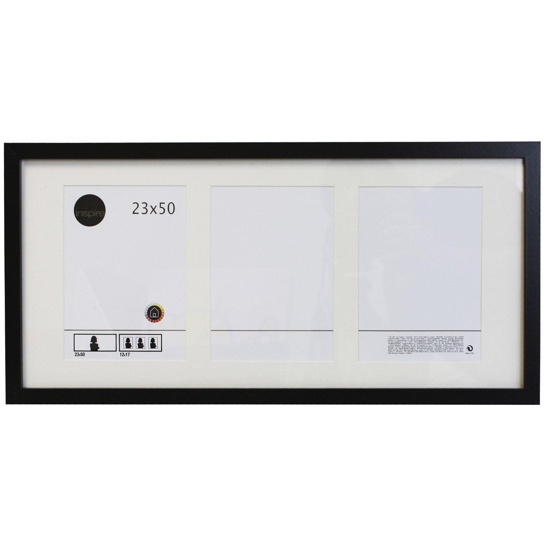 cadre lario 23 x 50 cm noir noir n 176 0 leroy merlin
