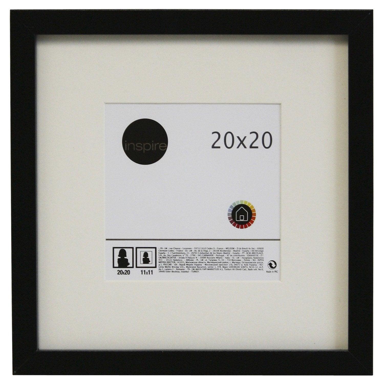 cadre lario 20 x 20 cm noir noir n 0 leroy merlin. Black Bedroom Furniture Sets. Home Design Ideas