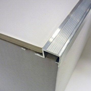 nez de marche d coratif en aluminium brut chrom 2 5 m x. Black Bedroom Furniture Sets. Home Design Ideas