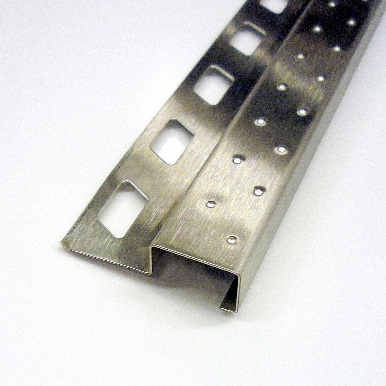 Nez de marche d coratif en inox 2 5 m x 12 5 mm leroy for Nez de marche carrelage leroy merlin