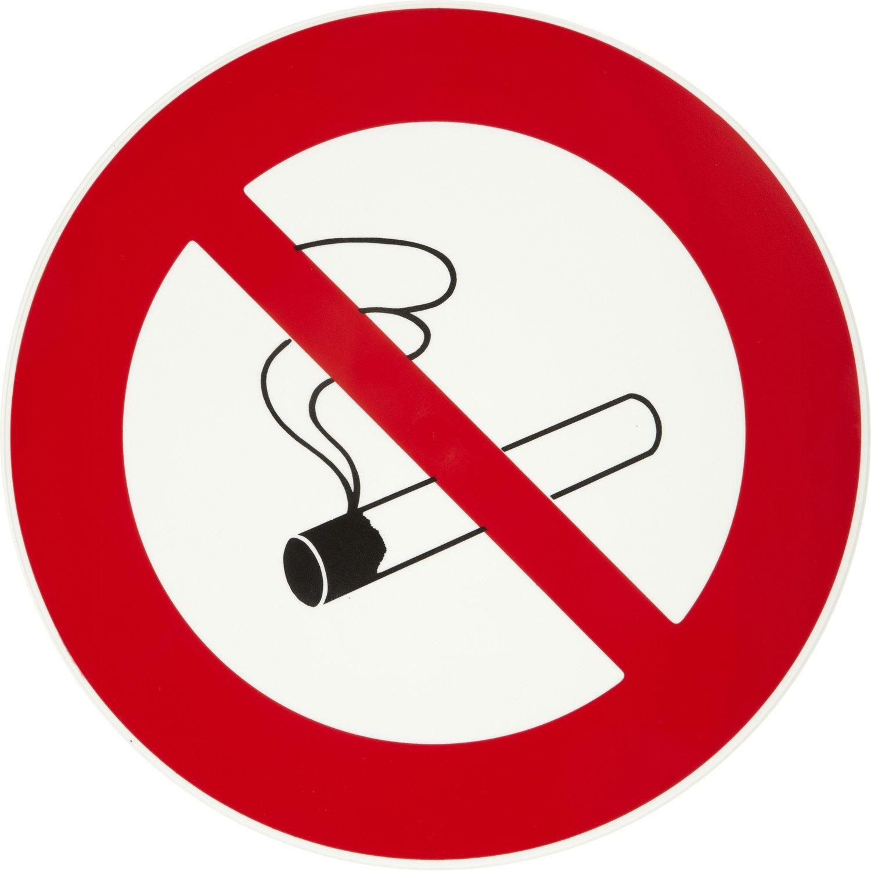 Disque interdiction de fumer en plastique leroy merlin for Fumer dans la salle de bain