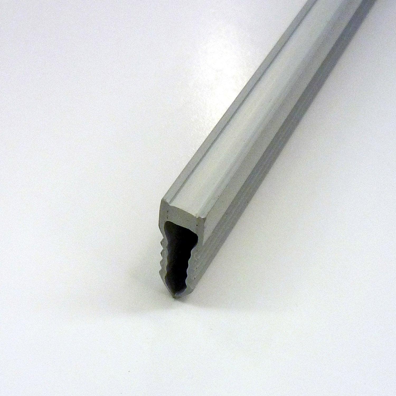 Joint de dilatation fractionnement en pvc gris 2 5 m x - Joint de dilatation mur ...