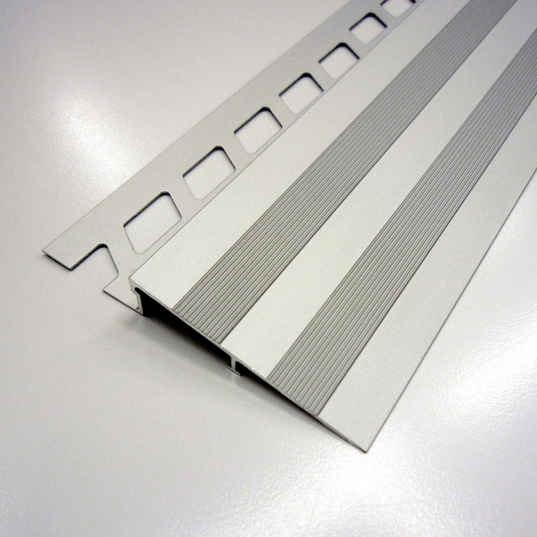 Rampe d 39 acc s sol aluminium anodis l 2 5 m x mm for Rampe dacces voiture