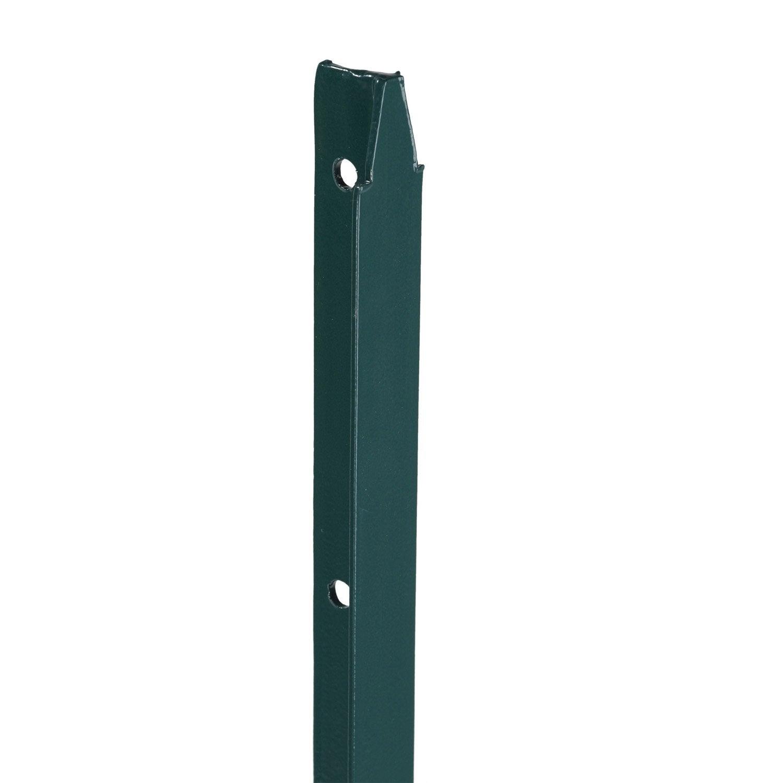 Piquet sceller longue dur e vert l 3 5 x x p 3 5 cm leroy merlin - Poteaux en t pour grillage ...