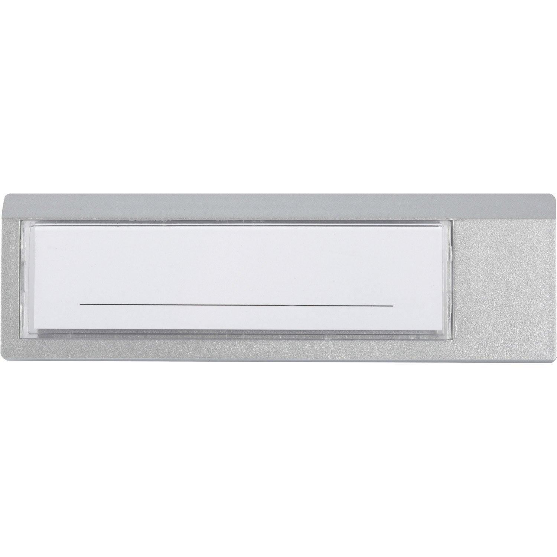 Porte nom pour porte pali re en plastique leroy merlin - Porte etiquette pour boite aux lettres ...