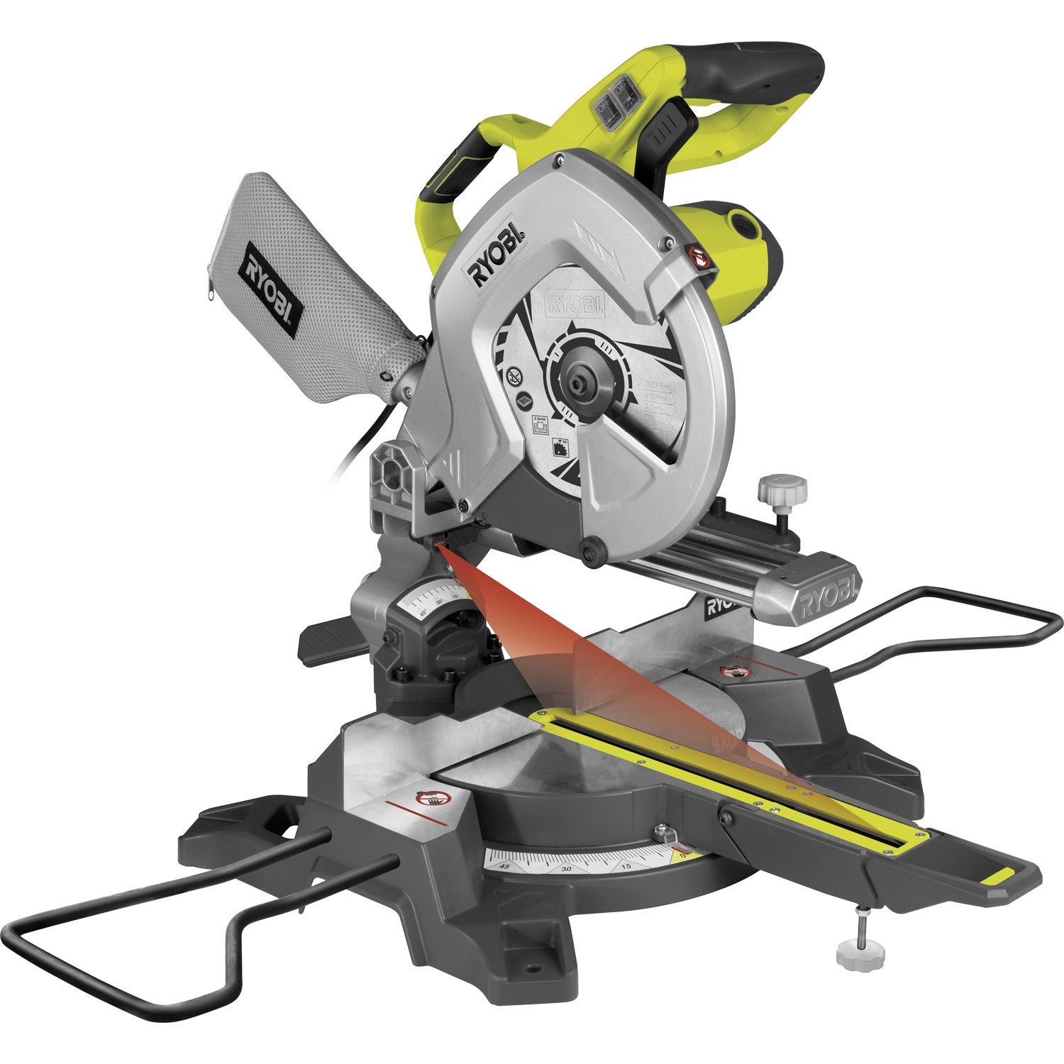 Scie onglet ryobi ems254l 254 mm 2000 w leroy merlin - Scie circulaire carrelage ...