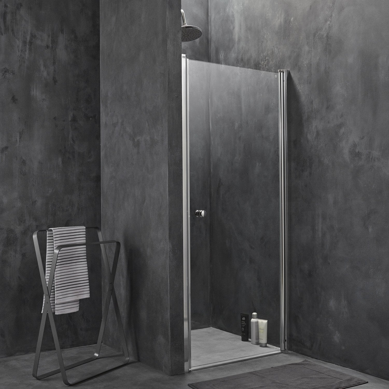 Porte de douche pivotante breuer flexa verre de s curit - Porte en verre leroy merlin ...