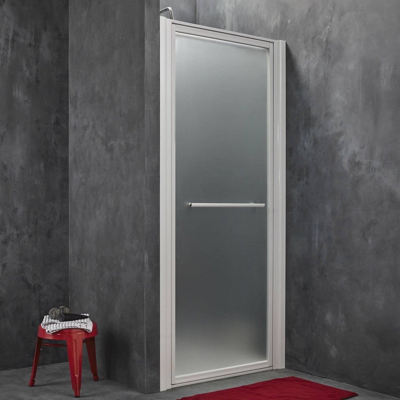 Porte de douche pivotante breuer palerme verre de - Leroy merlin porte en verre ...