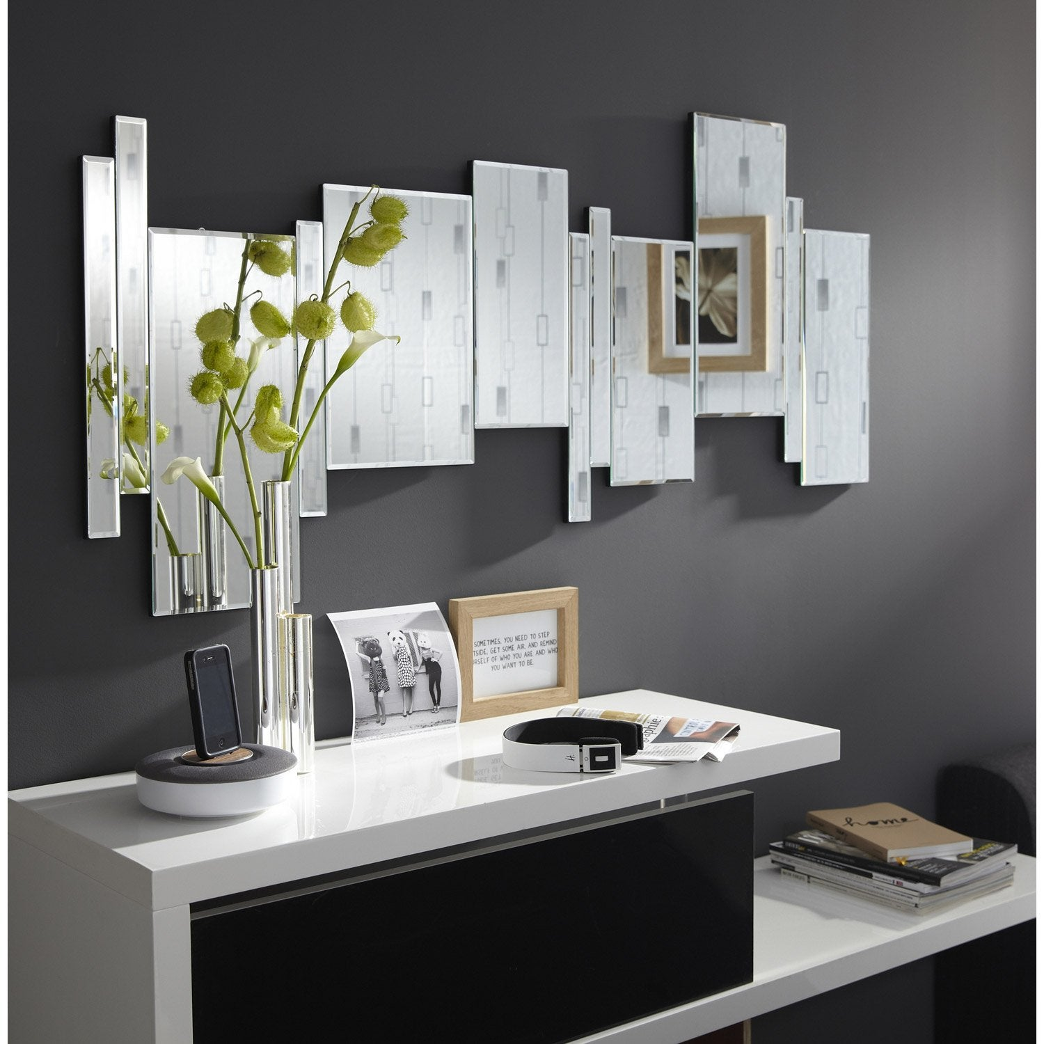 Miroir axel x cm leroy merlin for Miroir design salon