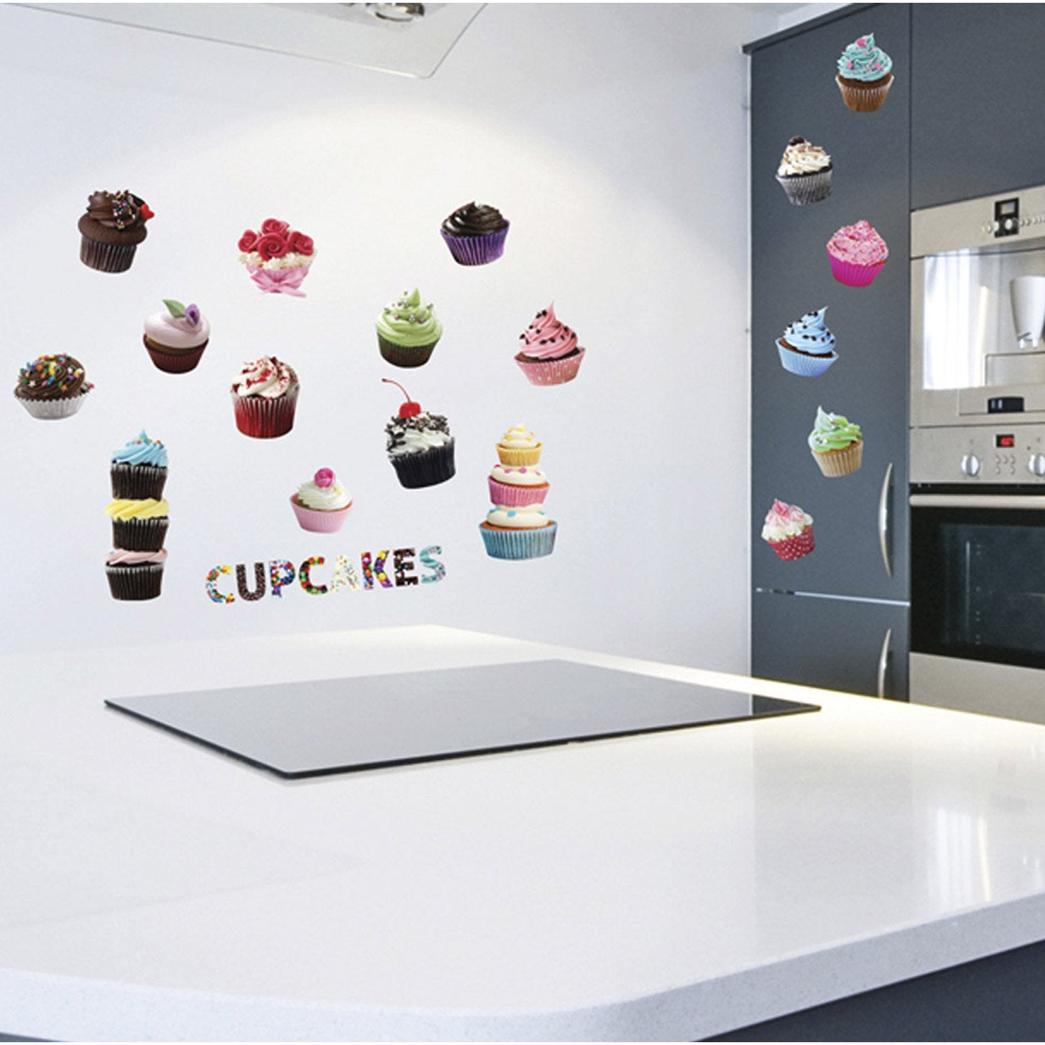 sticker cup cakes 50 cm x 70 cm leroy merlin. Black Bedroom Furniture Sets. Home Design Ideas