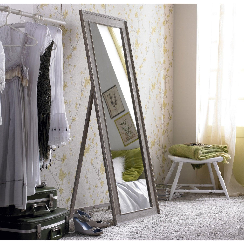 miroir lanwood blanchi beige x cm leroy merlin. Black Bedroom Furniture Sets. Home Design Ideas