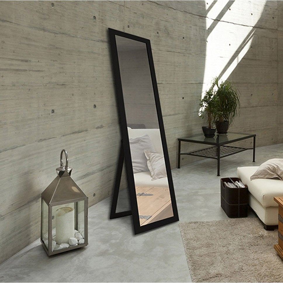 Miroir a poser au sol hoze home for Miroir long noir