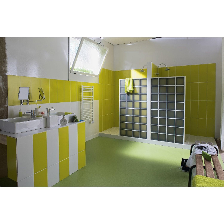 fa ence mur jaune anis n 3 loft x cm leroy merlin. Black Bedroom Furniture Sets. Home Design Ideas