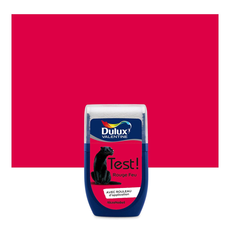 Testeur peinture rouge feu dulux valentine color resist 0 - Dulux valentine color resist ...