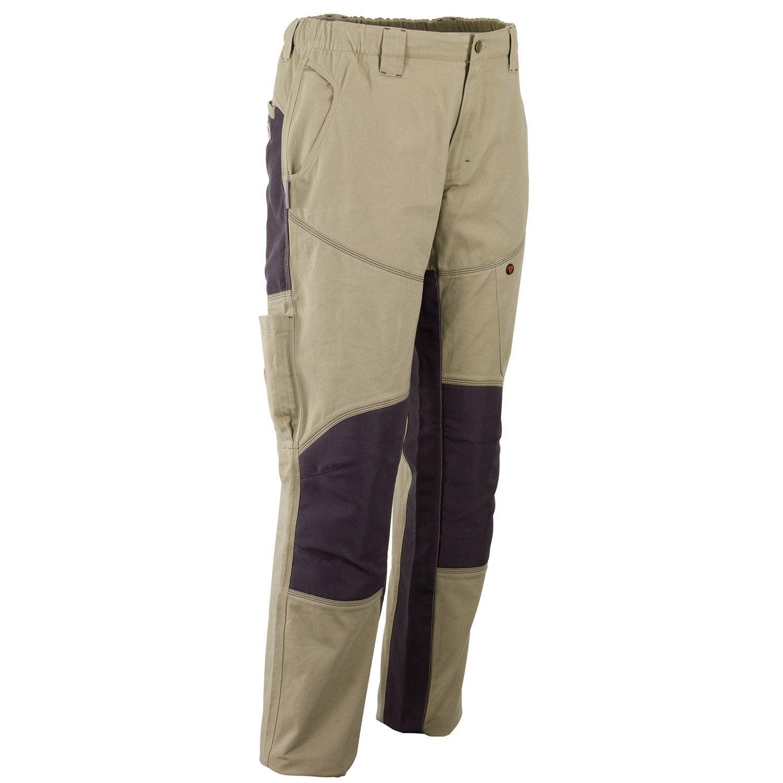 pantalon de travail redstone beige gris taille xl. Black Bedroom Furniture Sets. Home Design Ideas