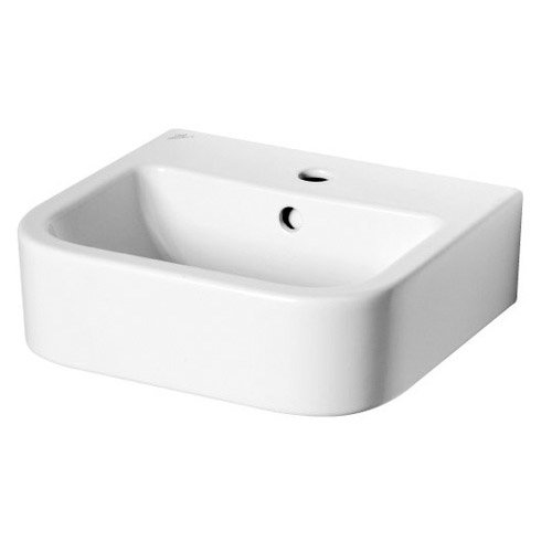 Lavabo en c ramique blanc ideal standard seventies for Lavabo le roy merlin