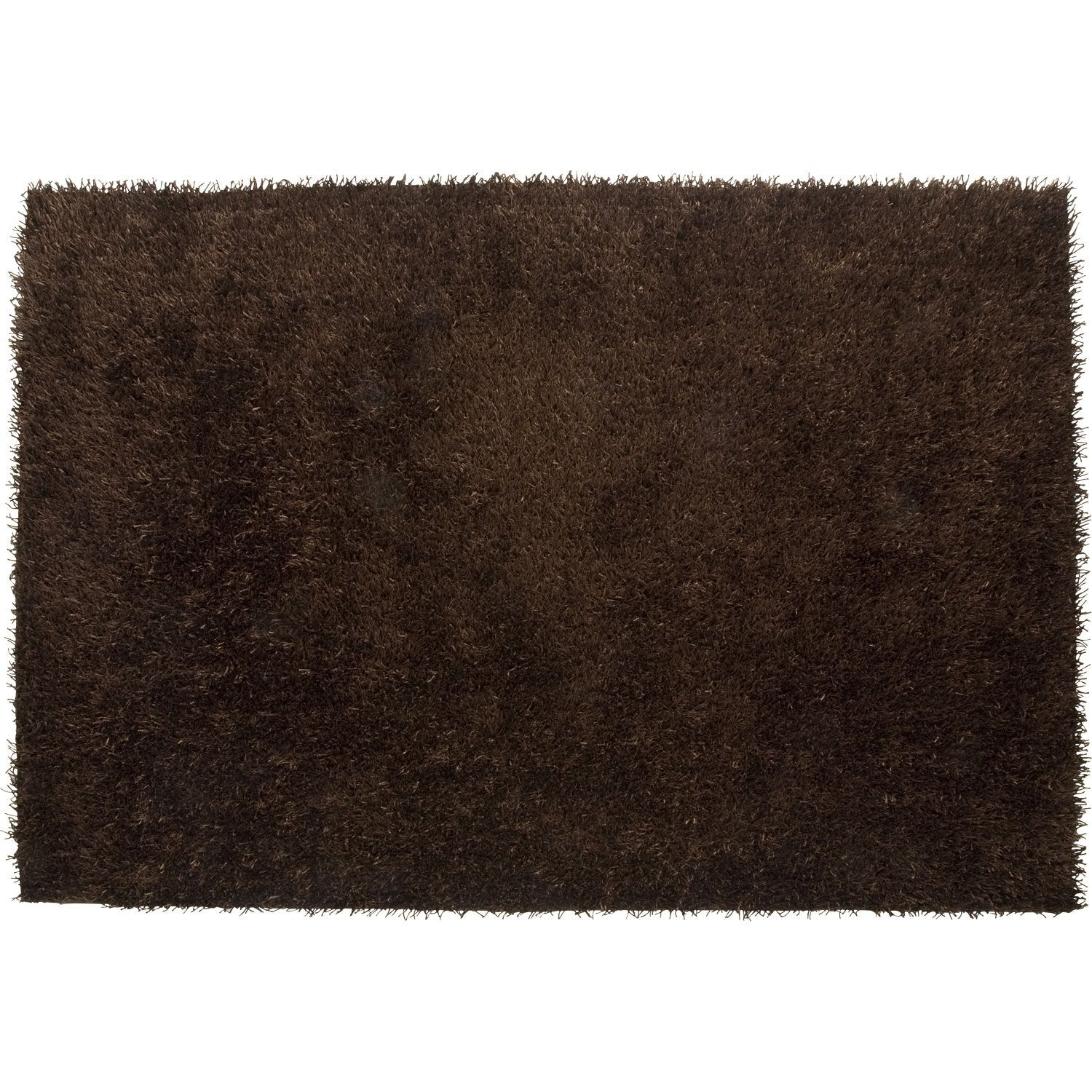 tapis shaggy lilou marron 230x160 cm leroy merlin. Black Bedroom Furniture Sets. Home Design Ideas