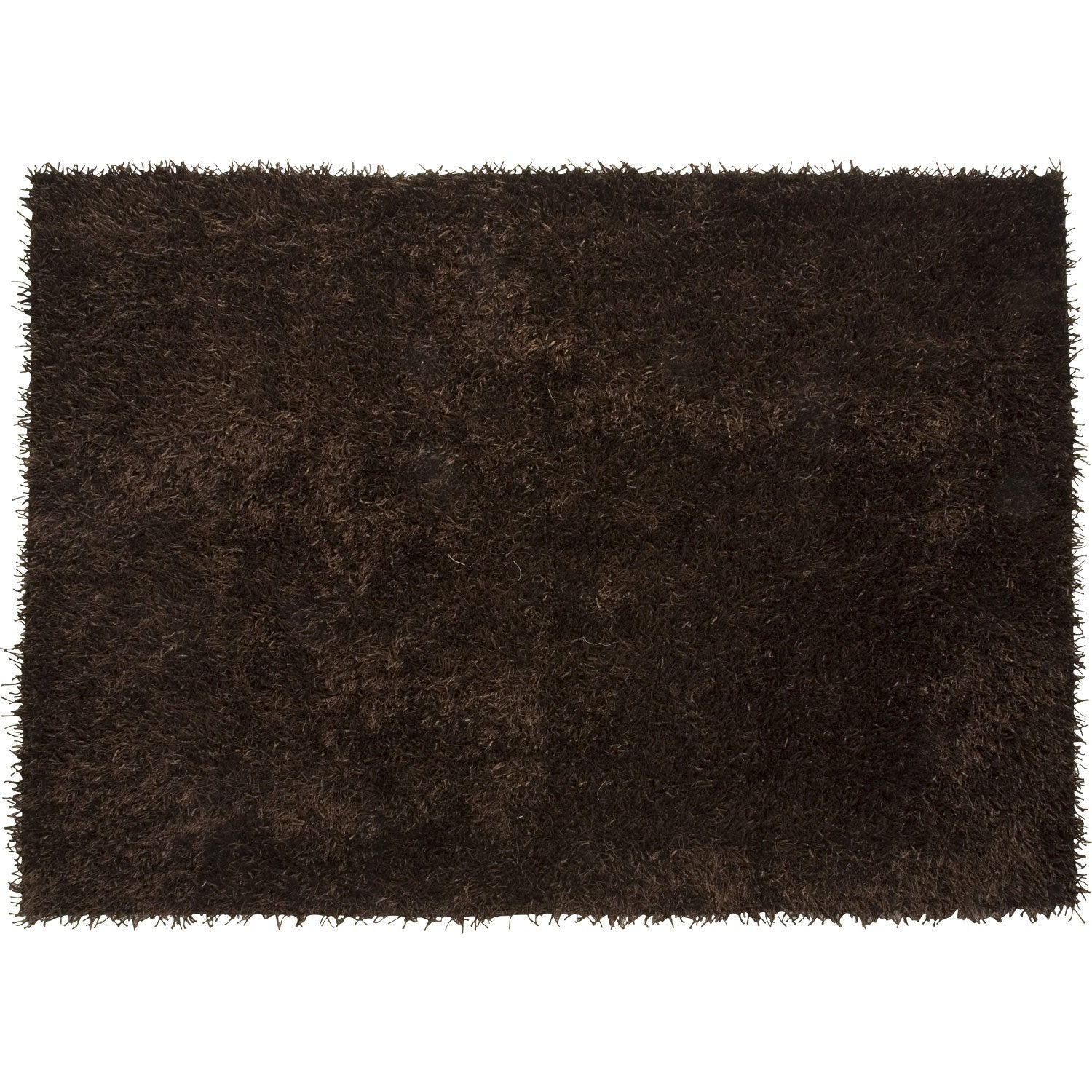 tapis shaggy lilou marron 170x120 cm leroy merlin. Black Bedroom Furniture Sets. Home Design Ideas