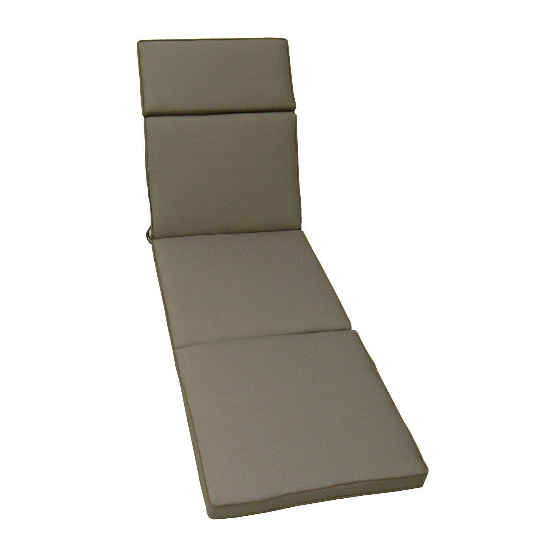 coussin de bain de soleil naterial laura uni gris dor. Black Bedroom Furniture Sets. Home Design Ideas