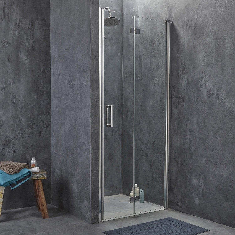 Porte de douche pivo pliante breuer entra verre de - Accessoire douche leroy merlin ...