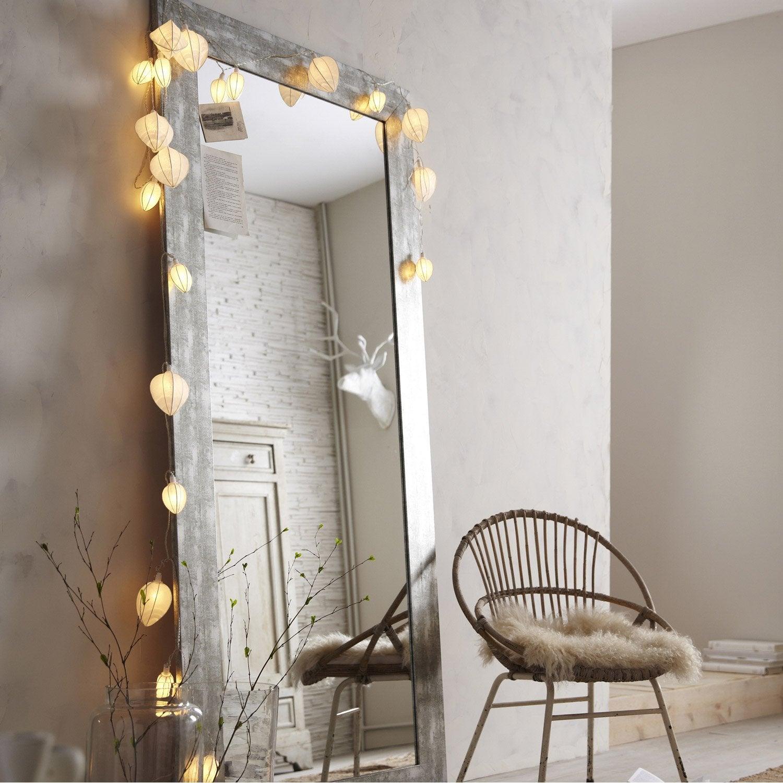 Miroir okaasan argent x cm leroy merlin for Miroir de chambre sur pied