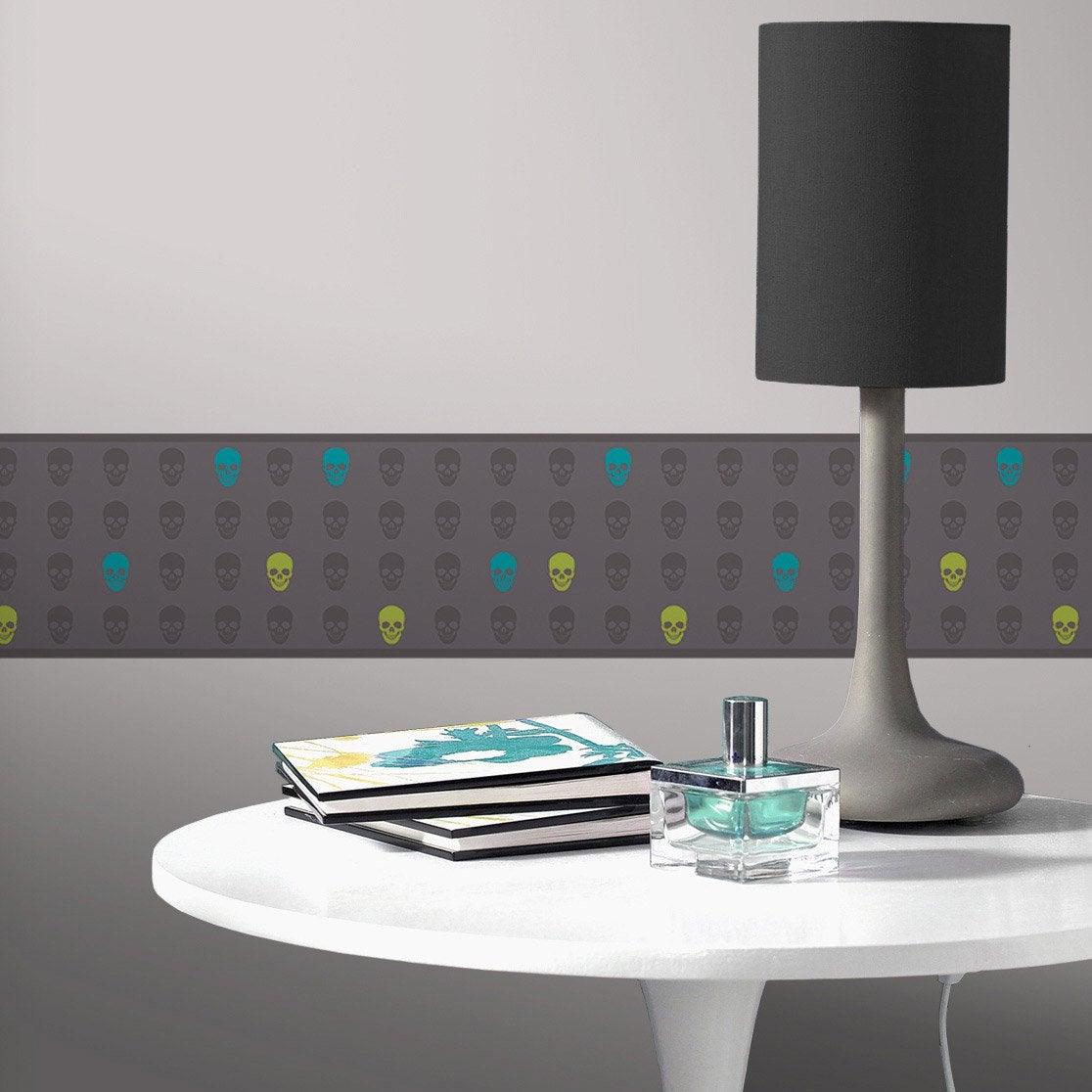 frise vinyle adh sive t te de mort longueur 5 m leroy merlin. Black Bedroom Furniture Sets. Home Design Ideas