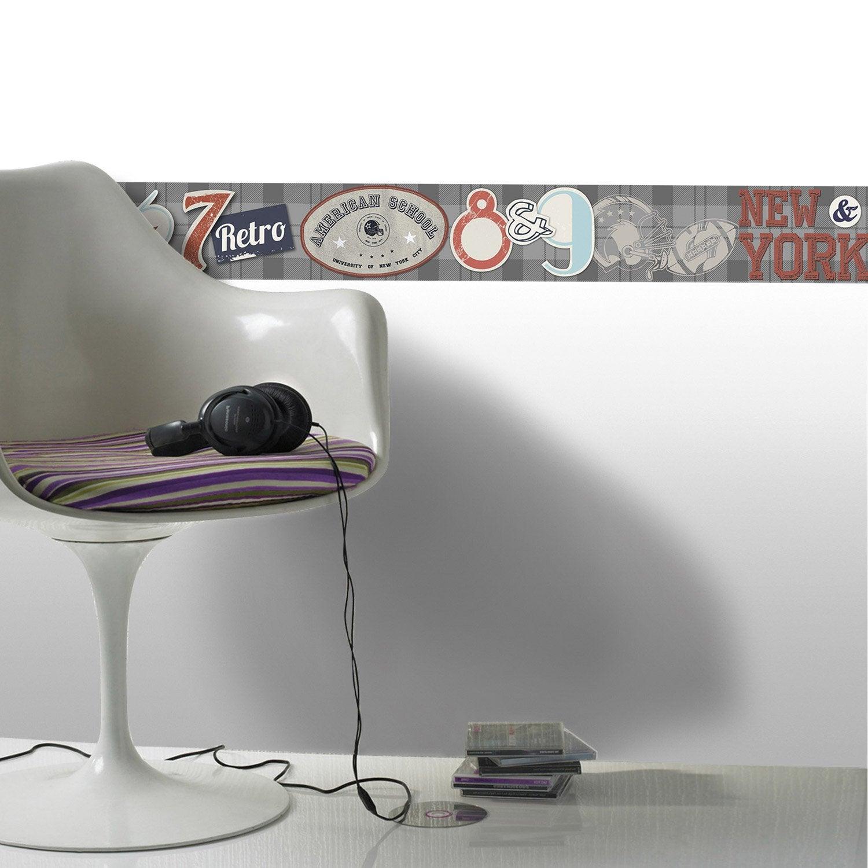 Frise vinyle adh sive college l 5 m x cm leroy merlin - Leroy merlin frise adhesive ...