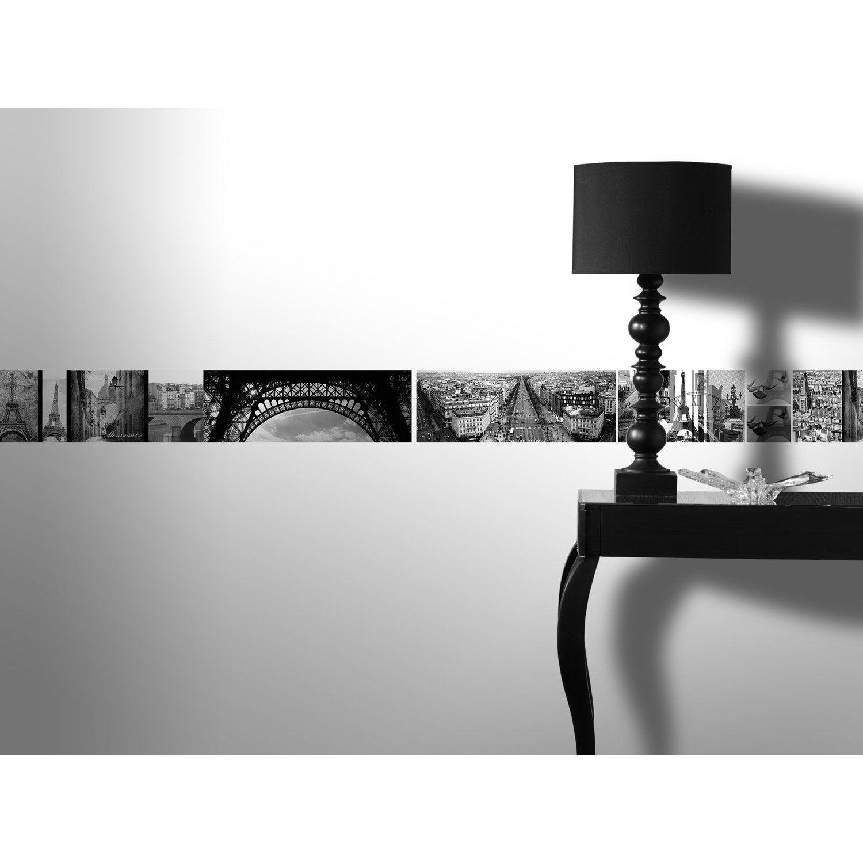 Frise vinyle adh sive paris romantique l 5 m x cm for Frise autocollante pour salle de bain