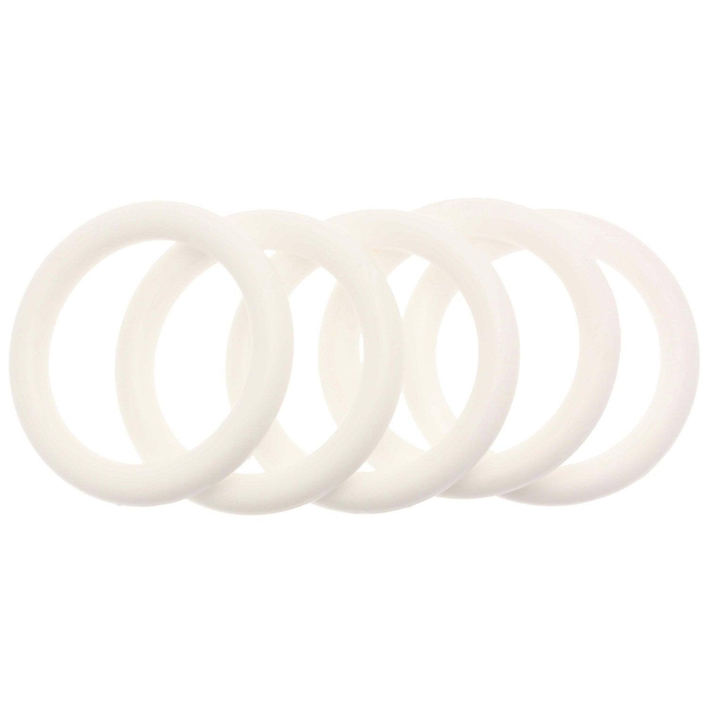 anneaux tringle 224 rideau 28 mm bois blanc inspire leroy merlin