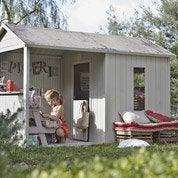 Maisonnette en bois avec auvent Cyrielle, SOULET