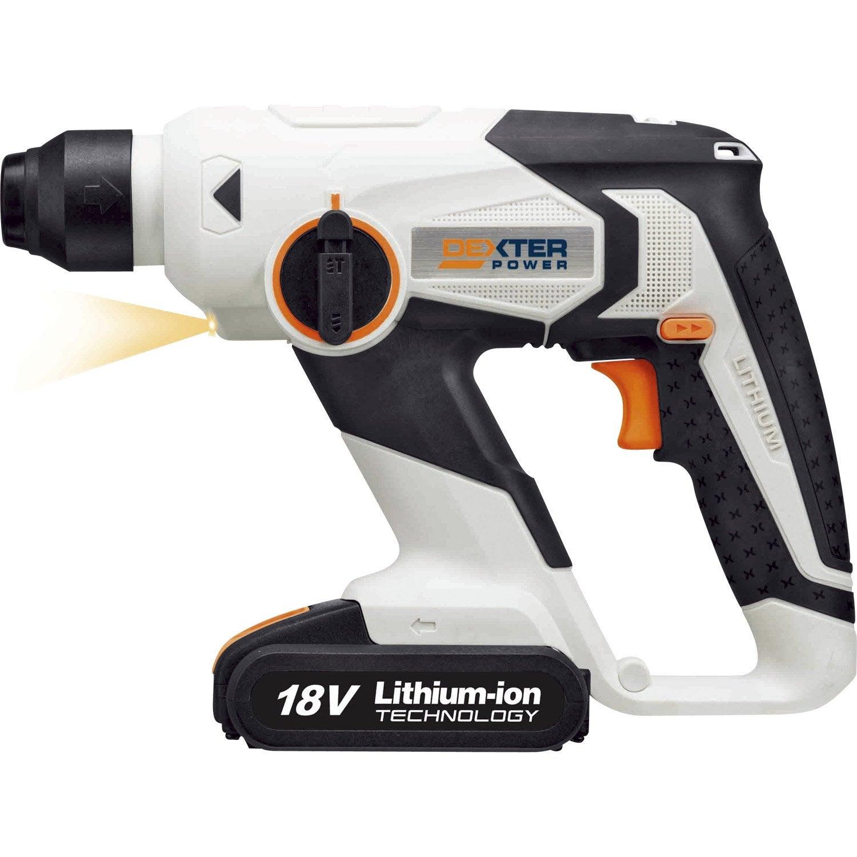 Perforateur sans fil dexter power 18 v 1 batterie leroy - Prix d un perforateur ...