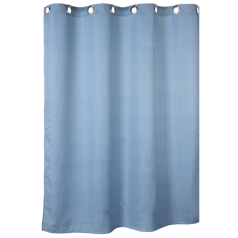 rideau de douche en textile bleu baltique n 3 x cm abeille sensea leroy merlin. Black Bedroom Furniture Sets. Home Design Ideas