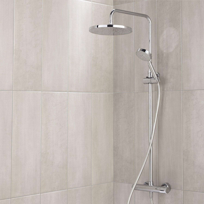 Fa ence mur beige d cor soft x cm leroy merlin for Faience beige salle de bain