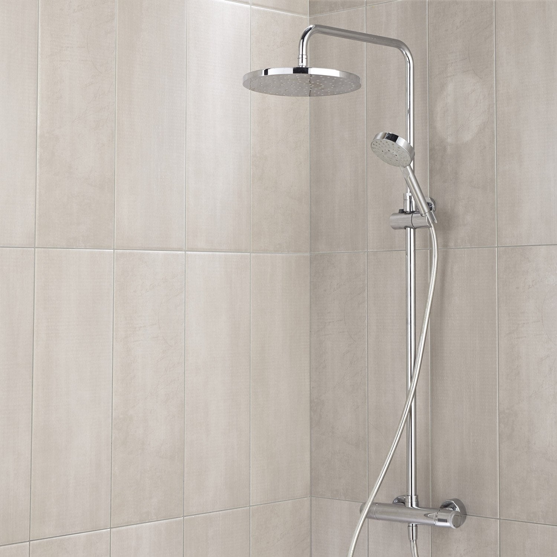 Fa ence mur beige soft x cm leroy merlin - Frise salle de bain leroy merlin ...