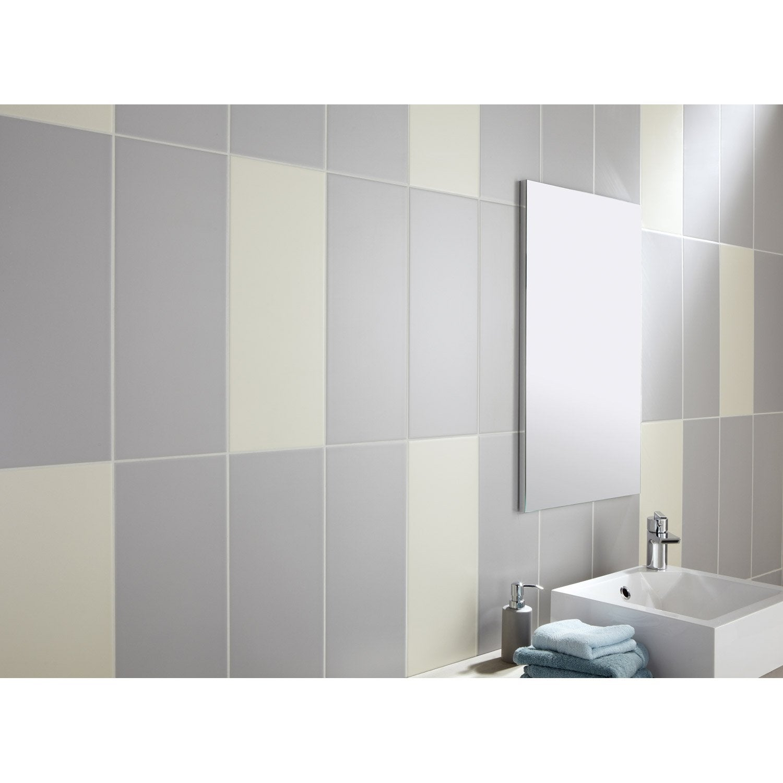 Faïence mur gris galet n°5, Loft mat l.20 x L.50.2 cm | Leroy Merlin