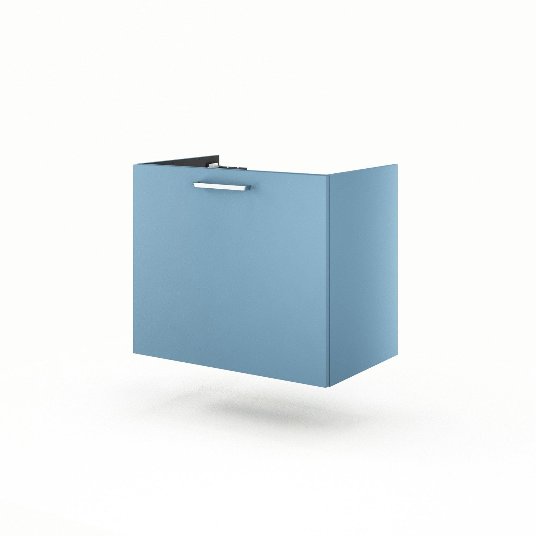 meuble sous vasque x x cm bleu neo line leroy merlin. Black Bedroom Furniture Sets. Home Design Ideas