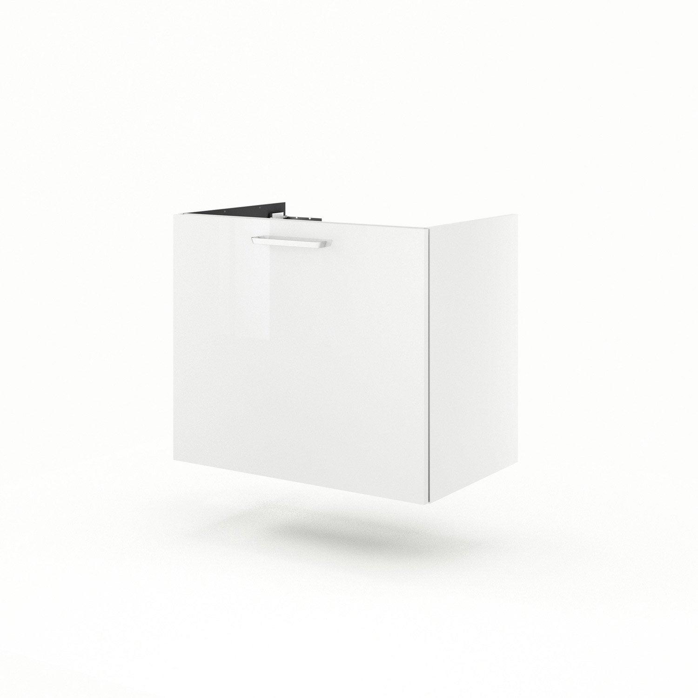 meuble sous vasque x x cm blanc neo line leroy merlin. Black Bedroom Furniture Sets. Home Design Ideas