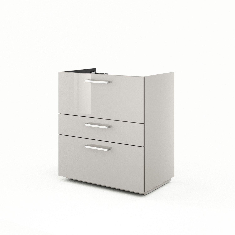 meuble sous vasque x x cm brun taupe neo line leroy merlin. Black Bedroom Furniture Sets. Home Design Ideas