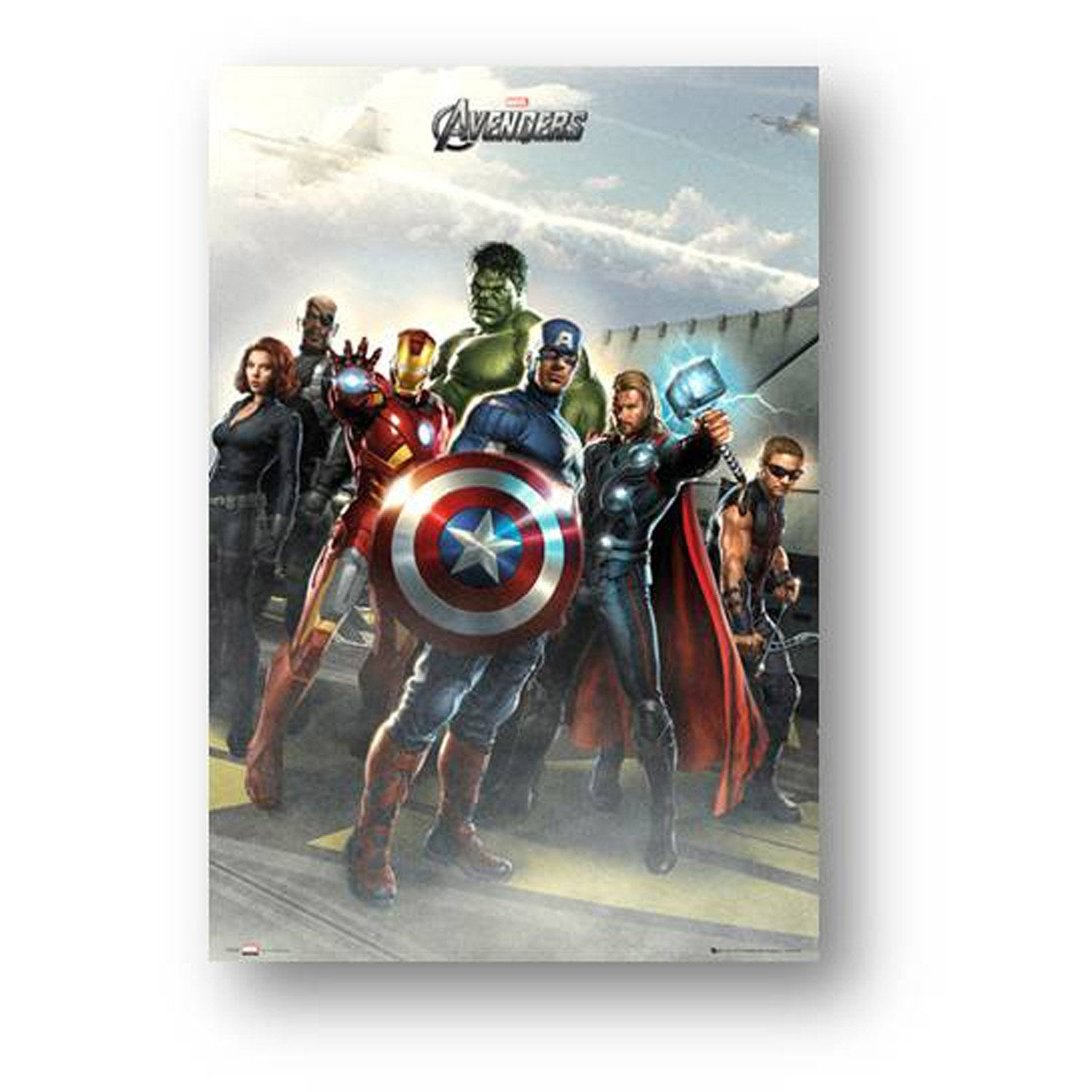 affiche contre coll e avengers airbase x cm. Black Bedroom Furniture Sets. Home Design Ideas