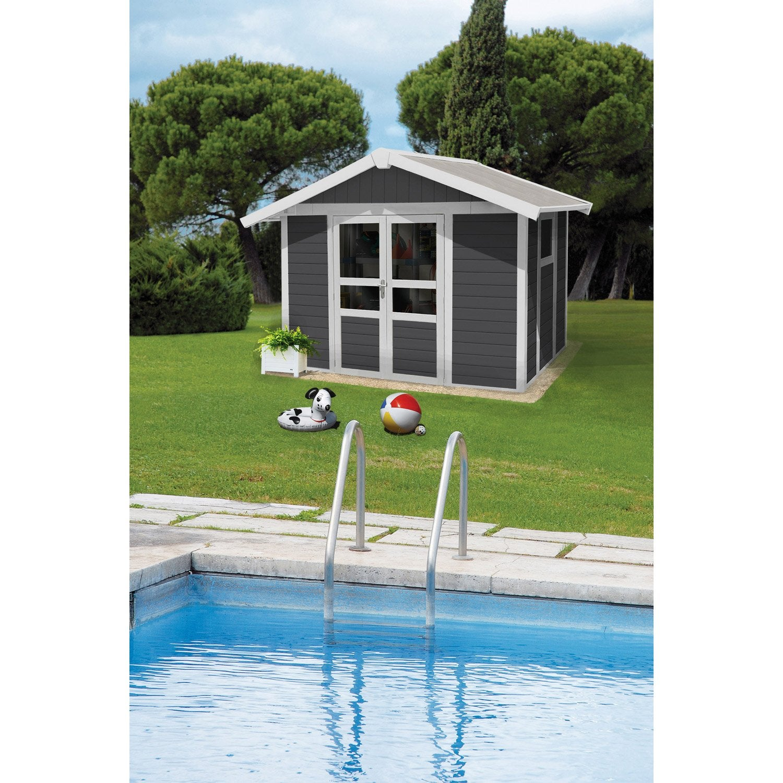 abri de jardin r sine basic home m mm leroy merlin. Black Bedroom Furniture Sets. Home Design Ideas