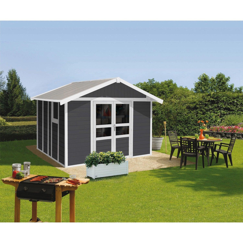 abri de jardin r sine basic home m mm. Black Bedroom Furniture Sets. Home Design Ideas