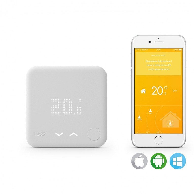 Thermostat intelligent et connect filaire ou sans fil en option tado tado ch - Thermostat leroy merlin ...