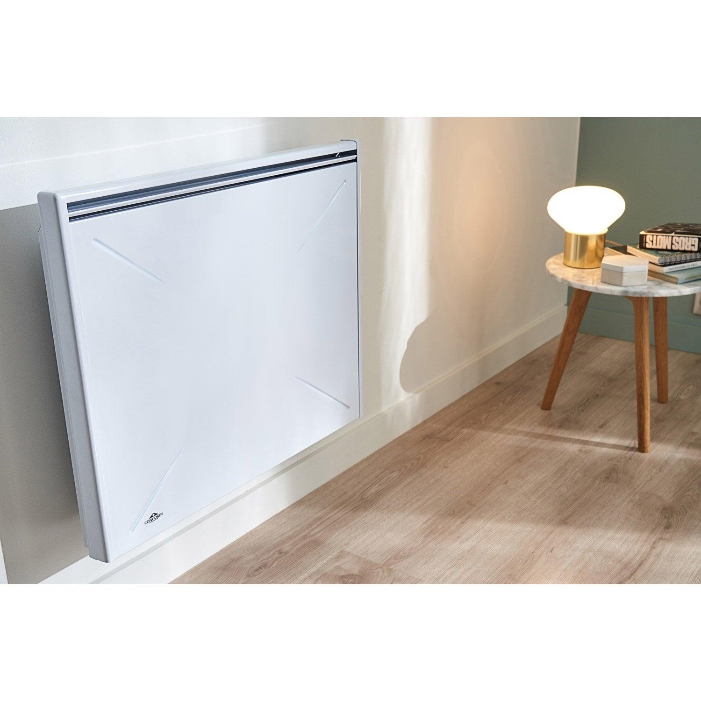 radiateur lectrique inertie fonte rivoli 1000 w leroy merlin. Black Bedroom Furniture Sets. Home Design Ideas