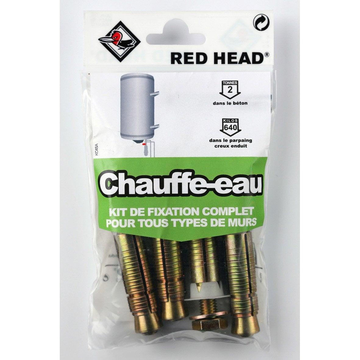 Kit Chevilles 224 Expansion Chauffe Eau Red Head Diam 16 X