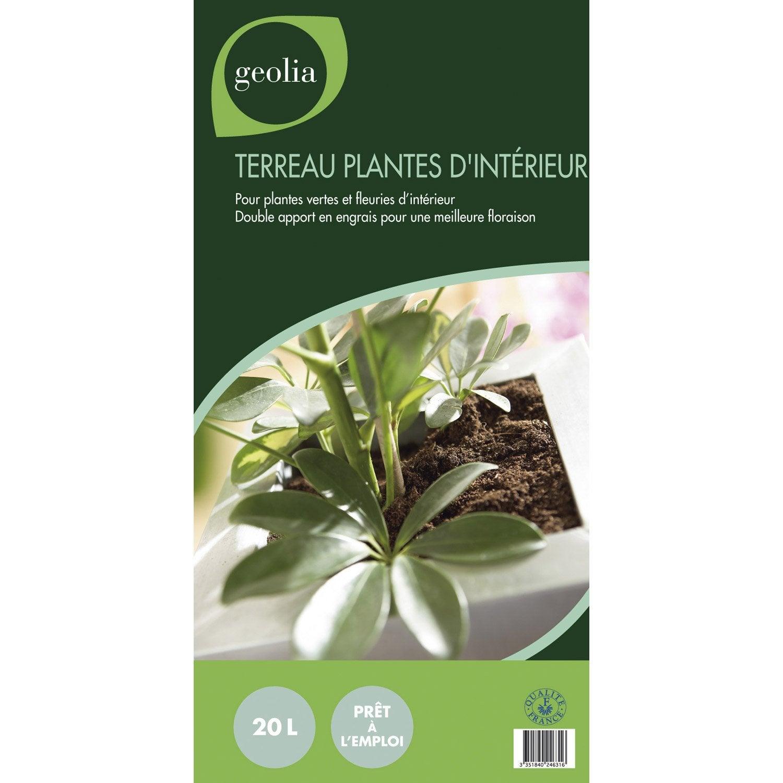 Terreau pour plantes d 39 int rieur geolia sac de 5 5 kg leroy merlin - Leroy merlin plantes ...