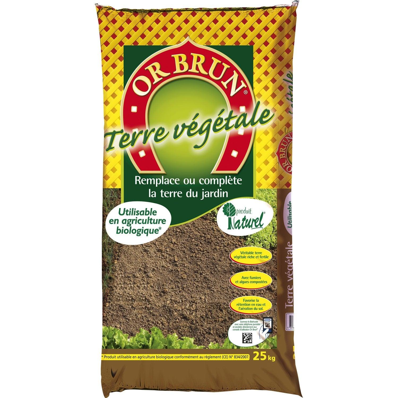 Terre v g tale horticole or brun 30 l leroy merlin - Terre vegetale prix ...
