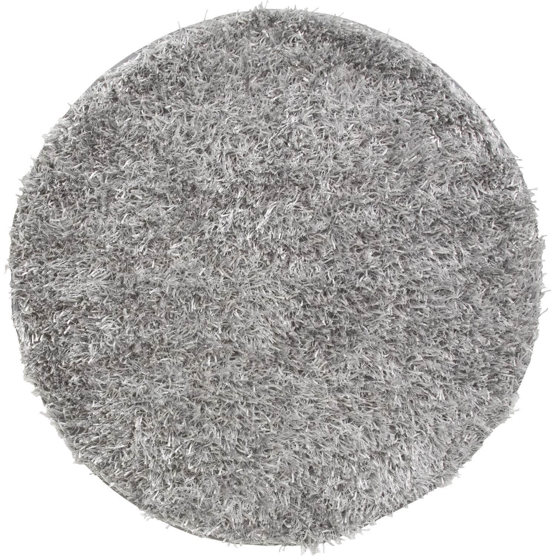 Tapis shaggy lilou gris diam tre 90 cm leroy merlin - Tapis shaggy gris perle ...