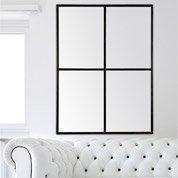 Miroir Fenêtre, noir, l.116 x H.91 cm