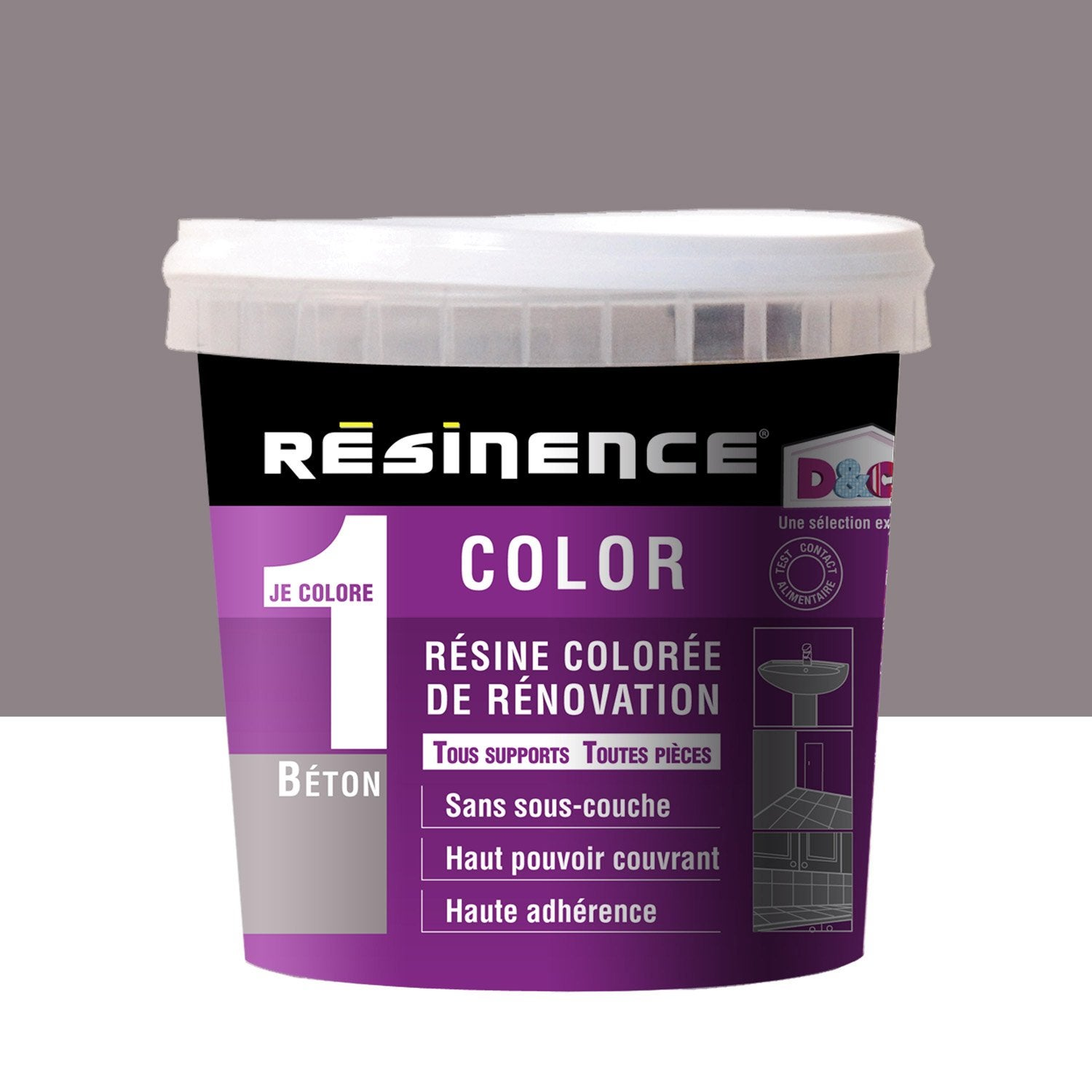 R sine color e color resinence gris urbain 0 5 l leroy merlin for Peinture resinence color