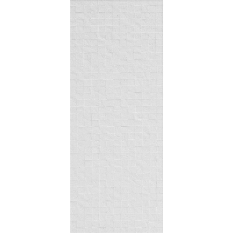 Fa ence mur blanc blanc n 0 d cor loft cubi x for Faience mur blanc